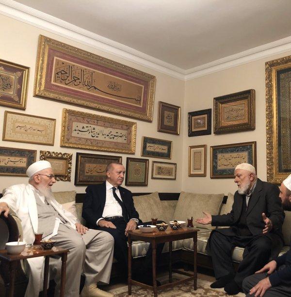 Cumhurbaşkanı Erdoğan'dan İsmailağa Cemaati'ne ziyaret