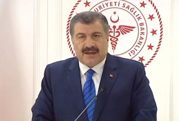 Sağlık Bakanı Koca'dan koronavirüse ilişkin açıklama
